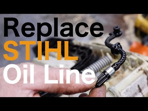 How To Replace The Oil Line On A Stihl MS-211 Chainsaw - with Taryl