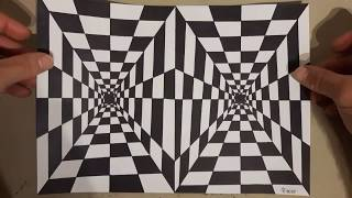 Easy 3d art/ tunnel drawing