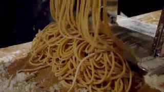 Homemade Whole Wheat Pasta Made With A Machine - Marcato Ampia Spaghetti Maker