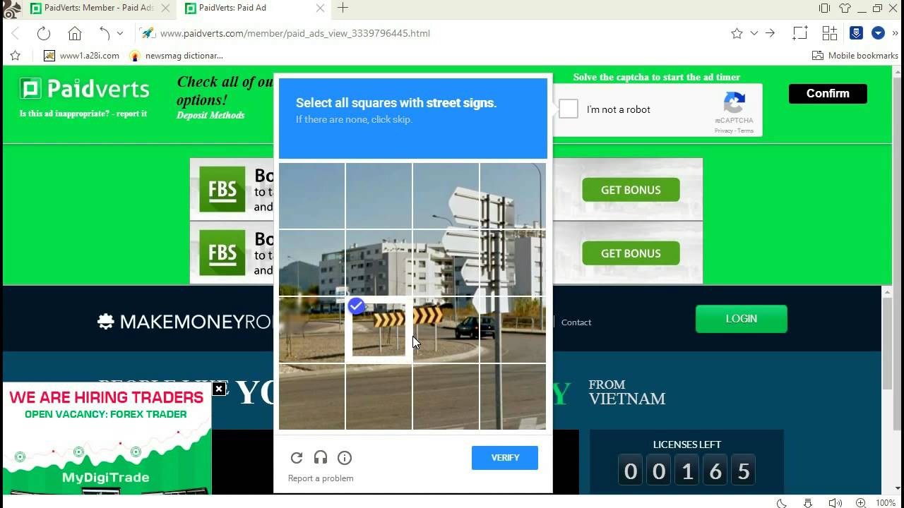 View ads Get Paid in PaidVerts - Earn Money with PaidVerts Account ...