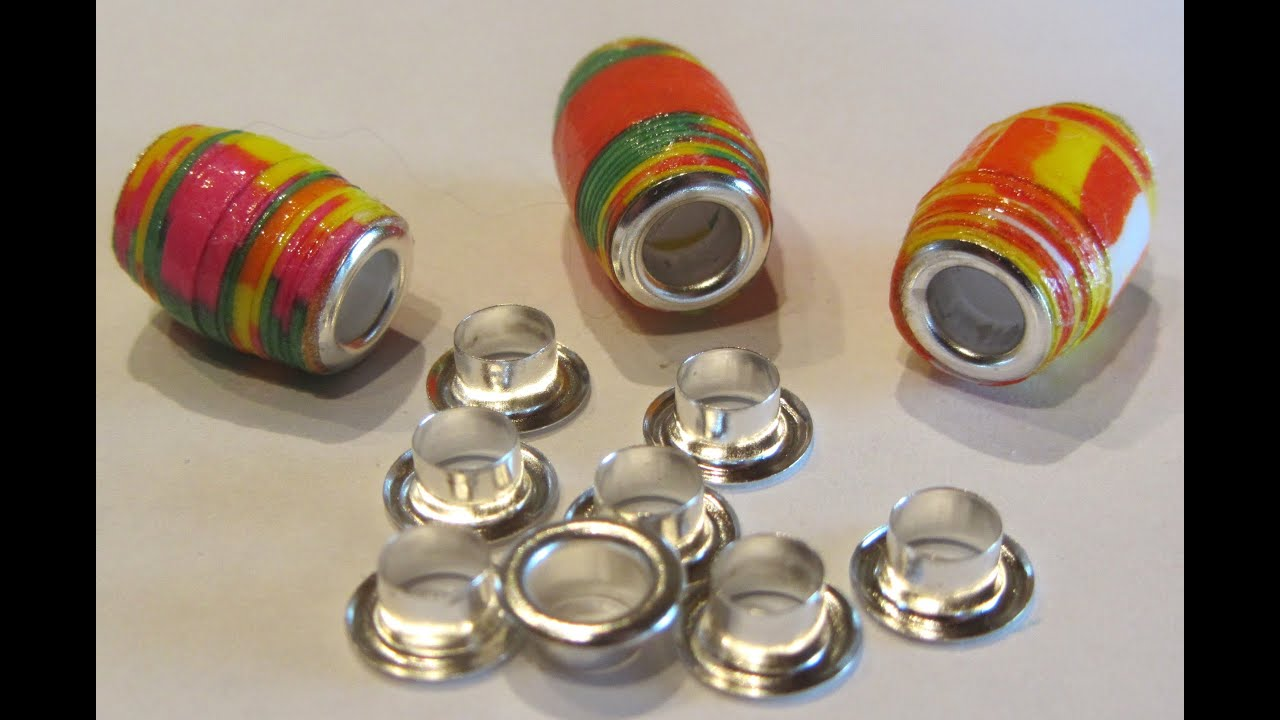 How to gloss paper beads and insert bead cores paper bead for How to make beads craft