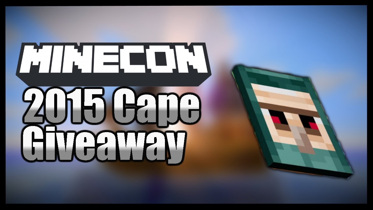 Minecon cape giveaway