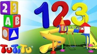 TuTiTu Preescolar | Aprende inglés | Aprender a contar del 1 al 10 | 123 Parque de juegos