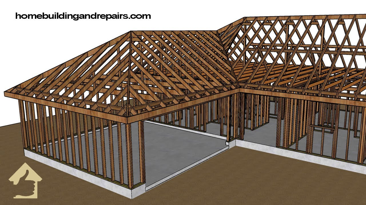 Check Out The 1950 S Hip Roof Framing How It Was Built