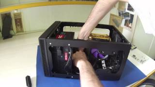 build a mini itx pc with an antec isk600