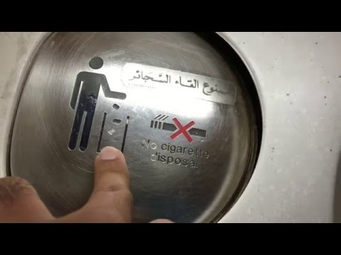 How to Use the Bathroom/ Restroom in the Plane/ Flight