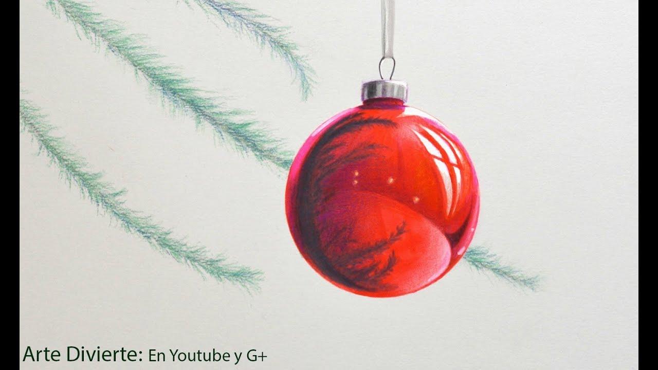 C mo dibujar una esfera navide a arte divierte youtube for Dibujos de navidad bolas