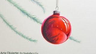 Cómo dibujar una esfera navideña - Arte Divierte.