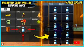Unlimited Gloo Wall In Training Mode  Training Mode Bug After update  Free Fire Tricks