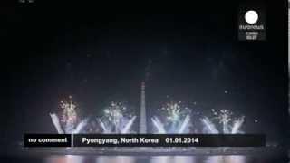 Встреча Нового года 2014 в Пхеньяне(Северная Корея)