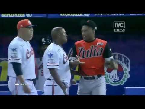 Riña: Águilas Del Zulia Y Caribes De Anzoátegui En Puerto La Cruz