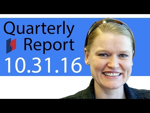 Unemployment Insurance Quarterly Report 10/31/16