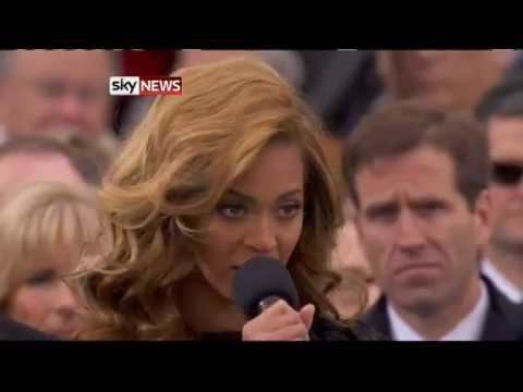 Beyonce Mimes Anthem At Obama Inauguration