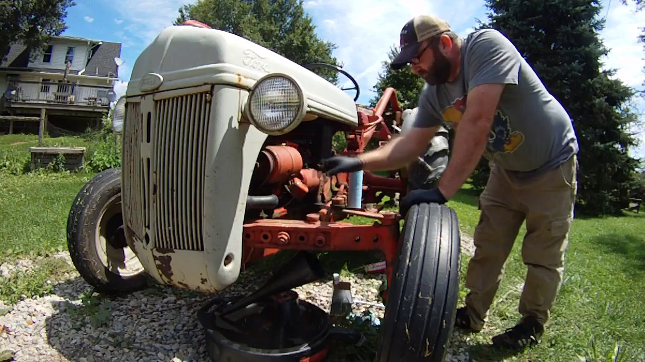 Ford 8n Tractor Oil Filter : Ford n engine oil change youtube