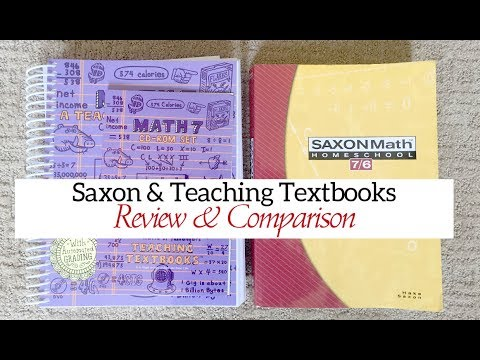 Saxon Math & Teaching Textbooks REVIEW & COMPARISON | Homeschool