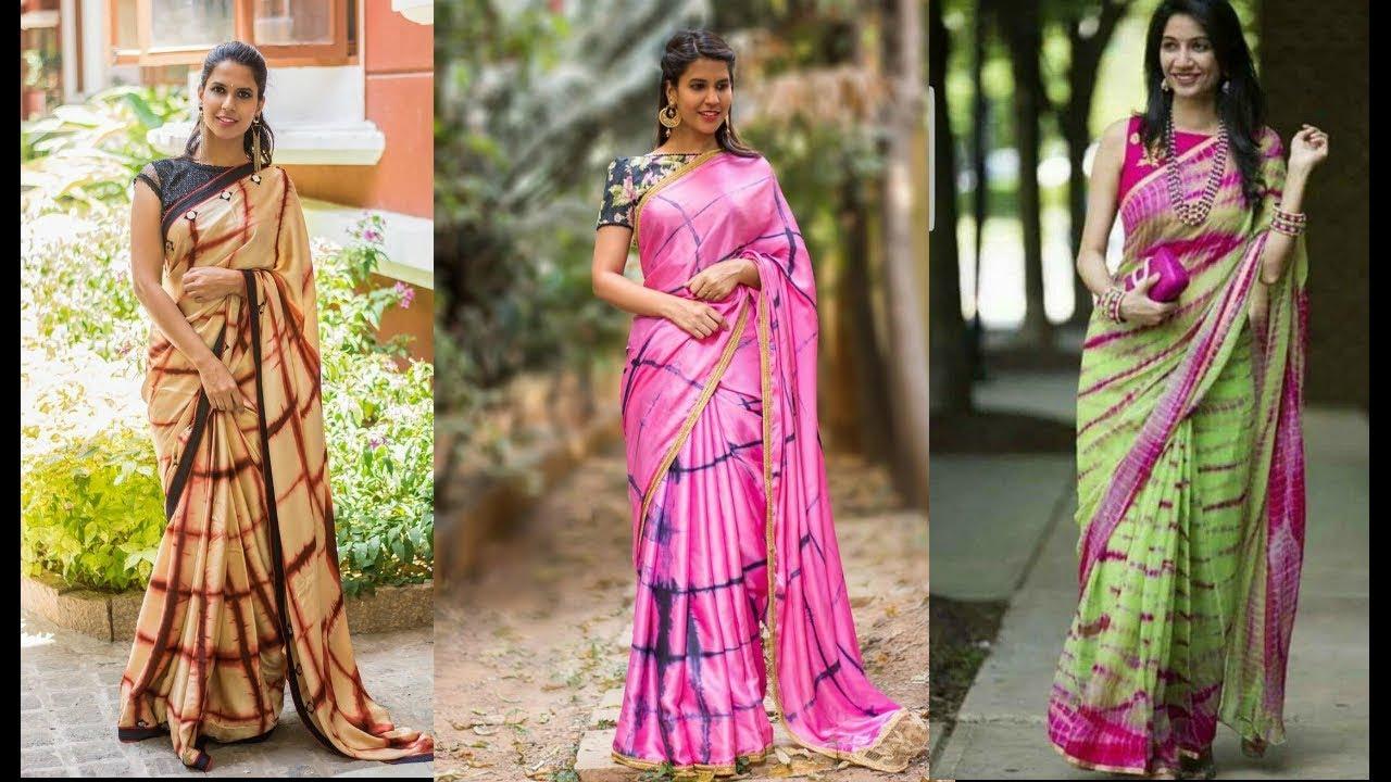 shibori print sarees & blouse designs | tie and dye sarees | million