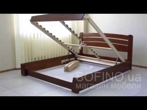Смотреть Кровать деревянная Селена Аури