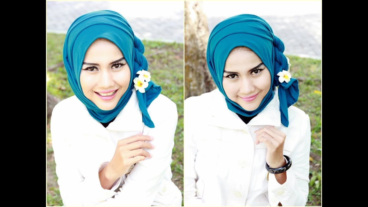 FULL HD VIDEO Tutorial Hijab Simple Trendy Segi Empat Ala Gadis