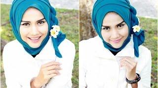 [FULL HD VIDEO] Tutorial Hijab Simple Trendy Segi Empat Ala gadis desa cantik