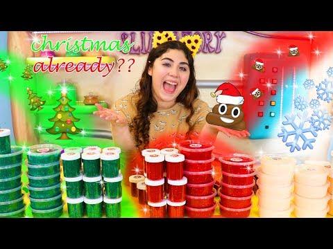 CHRISTMAS SLIMES ALREADY?? Etsy shop slime restock, restocking subscription boxes