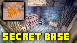 Minecraft: How to Build: Secret Underground Entrance/Base Tutorial (No Redstone!) Xbox/PS4/PE/PC