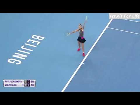 Anastasia Pavlyuchenkova vs Caroline Wozniacki - Highlights - CHINA OPEN 2017