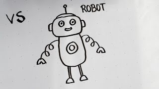 robot easy drawing draw simple drawings fun paintingvalley tutorial labelhqs