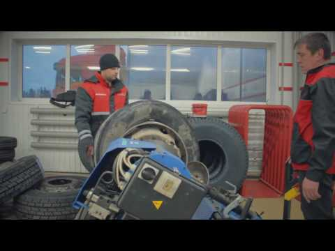 "Грузовой шиномонтаж ""Bridgestone"" г. Братск\ Truck Tire ""Bridgestone"" Bratsk Irkustk Region"