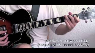 Metal/Wood (TOM) Bridge vs. Pure Wood Bridge (Hollow Body Guitar)