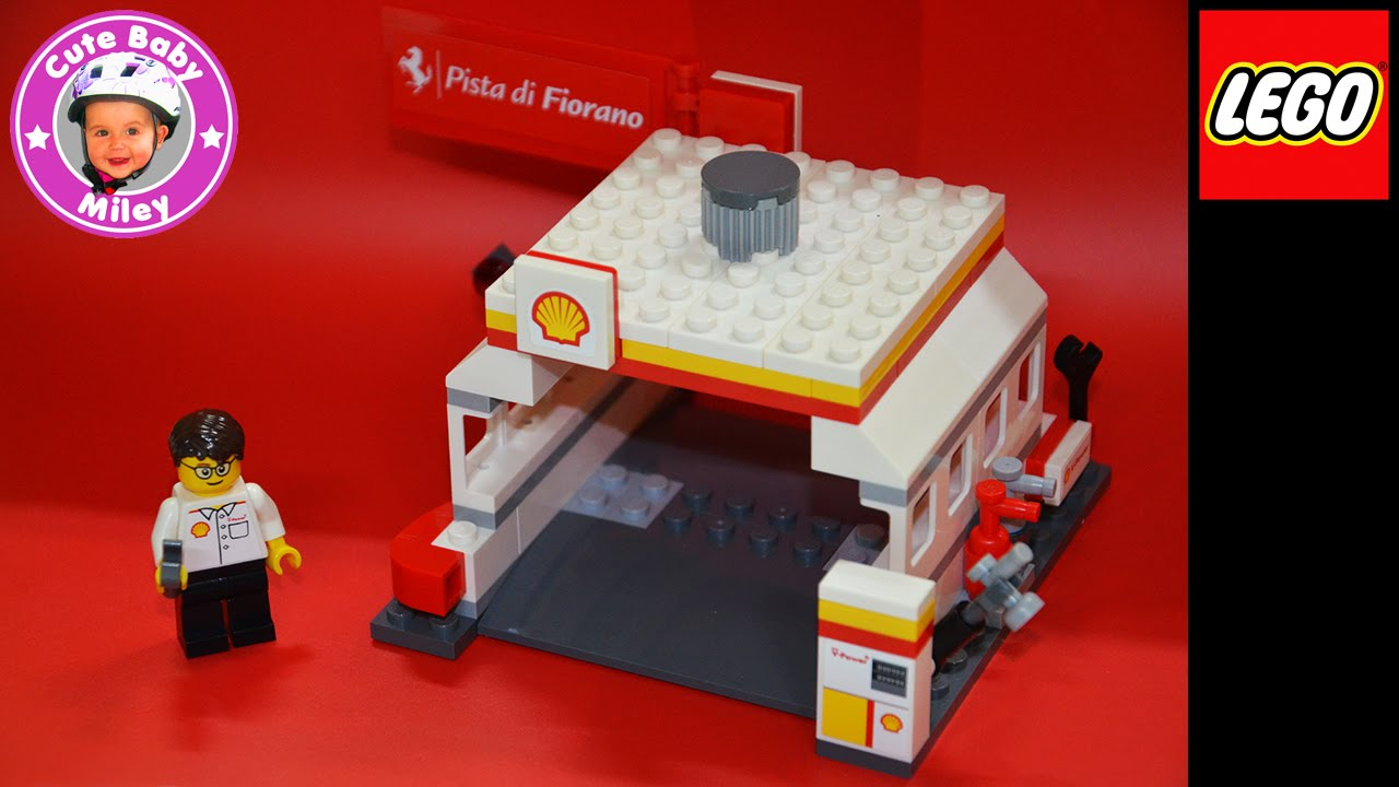 lego ferrari shell pit stop tankstelle waschstra e. Black Bedroom Furniture Sets. Home Design Ideas