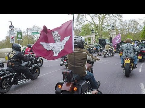 Thousands of bikers ride against prosecution of soldier F