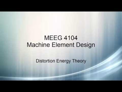 Machine Element Design V6 - Distortion Theory