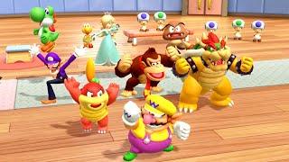 Super Mario Party MiniGames - Pom Pom Vs Donkey Kong Vs Diddy Kong Vs Wario