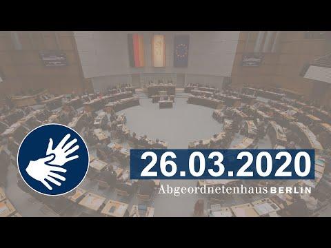 Regierungserklärung und Aussprache, 26.03.2020
