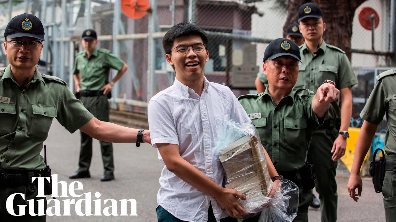 Hong Kong Activist Joshua Wong Is Freed, Says He'll Join Mass Protests