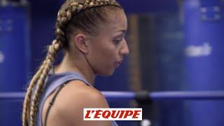 L'entraînement d'Estelle Mossely - Boxe - Gala de Deauville