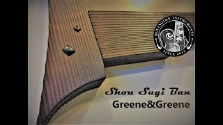 Japanese inspired picture frame (Greene&Greene / Shou Sugi Ban)