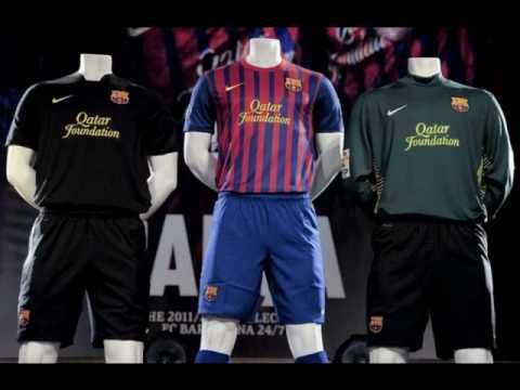 a5f9337d8e7 New *OFFICIAL* Barcelona Kits 2011/2012 - YouTube