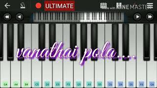 vanathai pola Bgm  piano tutorial
