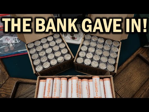 GET SILVER COINS FROM YOUR BANK!! COIN ROLL HUNTING LIVE STREAMS