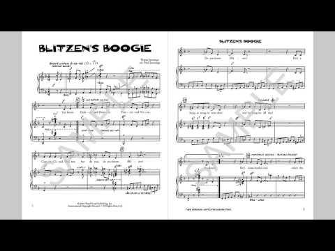 Blitzen's Boogie - MusicK8.com Singles Reproducible Kit