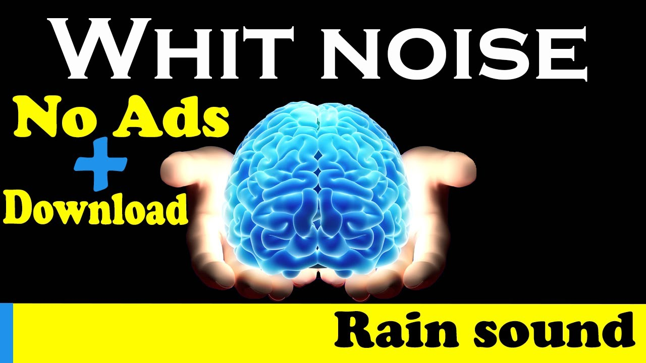 Rain white noise for sleeping and relaxing whitout any ads
