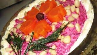 Салат свекольный с сыром