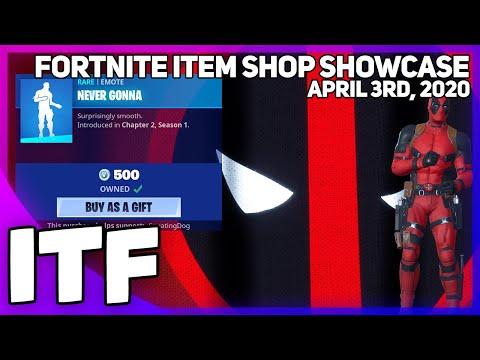 Fortnite Item Shop NEVER GONNA IS BACK! [April 3rd, 2020] (Fortnite Battle Royale)