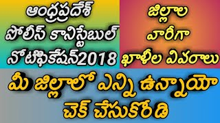 Ap police constable notification 2018|ap police constable vacancies district wise|district wise jobs