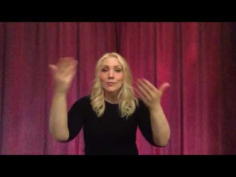 "Hollyn ""In Awe"" in. Sign Language by Charo"