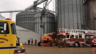 Boersen Farms grain elevator rescue scene