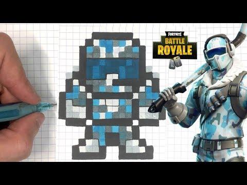 Tuto Pixel Art Pilote Arctique Fortnite Youtube