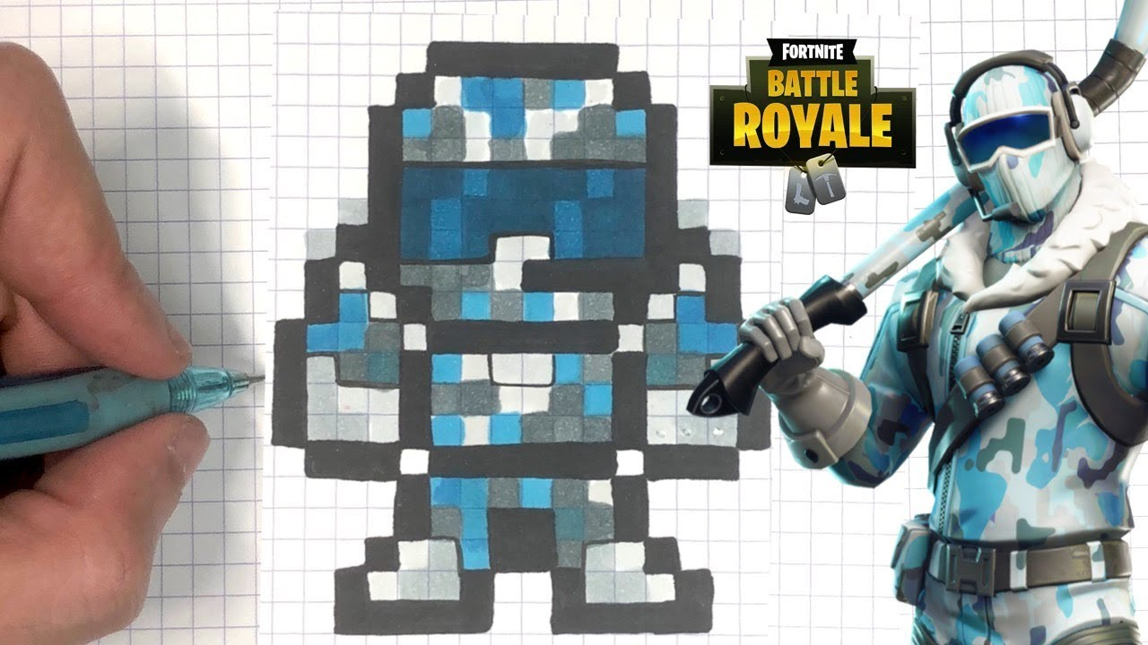 Tuto Pixel Art Pilote Arctique Fortnite