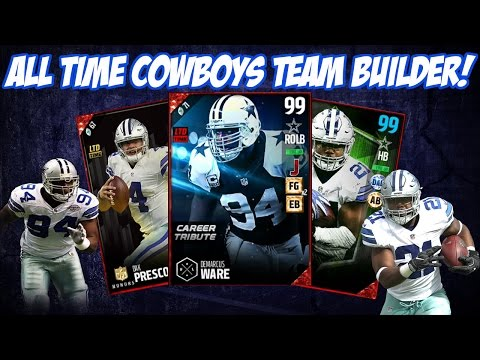 ALL TIME DALLAS COWBOYS TEAM BUILDER! THE BEST THEMED TEAM! | MADDEN 17 ULTIMATE TEAM